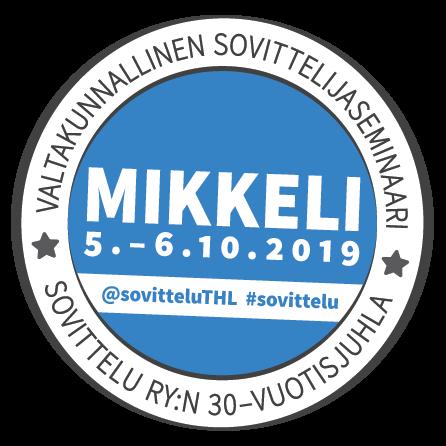 Valtakunnallinen sovitteluseminaari ja Sovittelu Ry:n juhlavuoden aloitus Mikkelissä lokakuussa